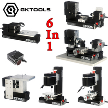 60W 12000r min Powerfull Metal 6 in 1 Mini Lathe without Bow Arm Milling Drilling Wood