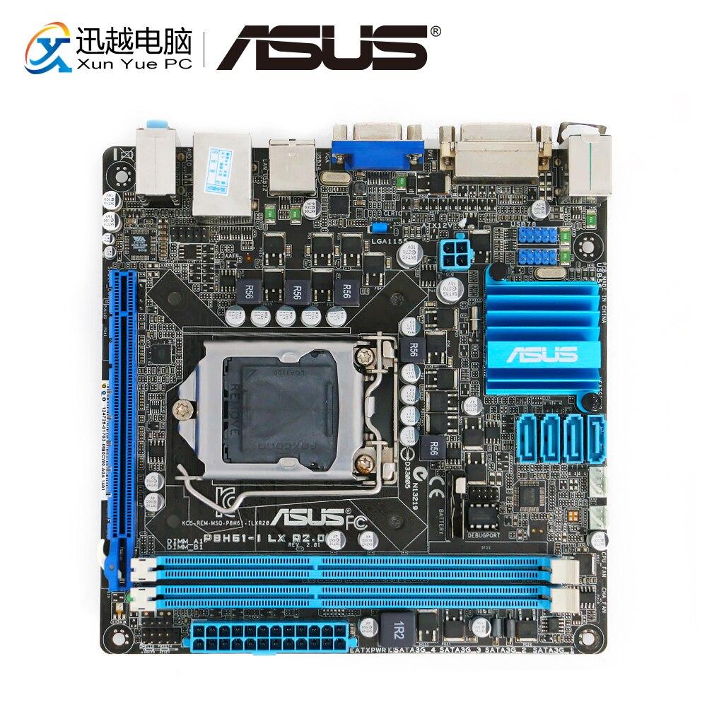 Asus P8H61-I LX R2.0 De Bureau Carte Mère H61 Socket LGA 1155 i3 i5 i7 DDR3 16g Mini-ITX Sur vente