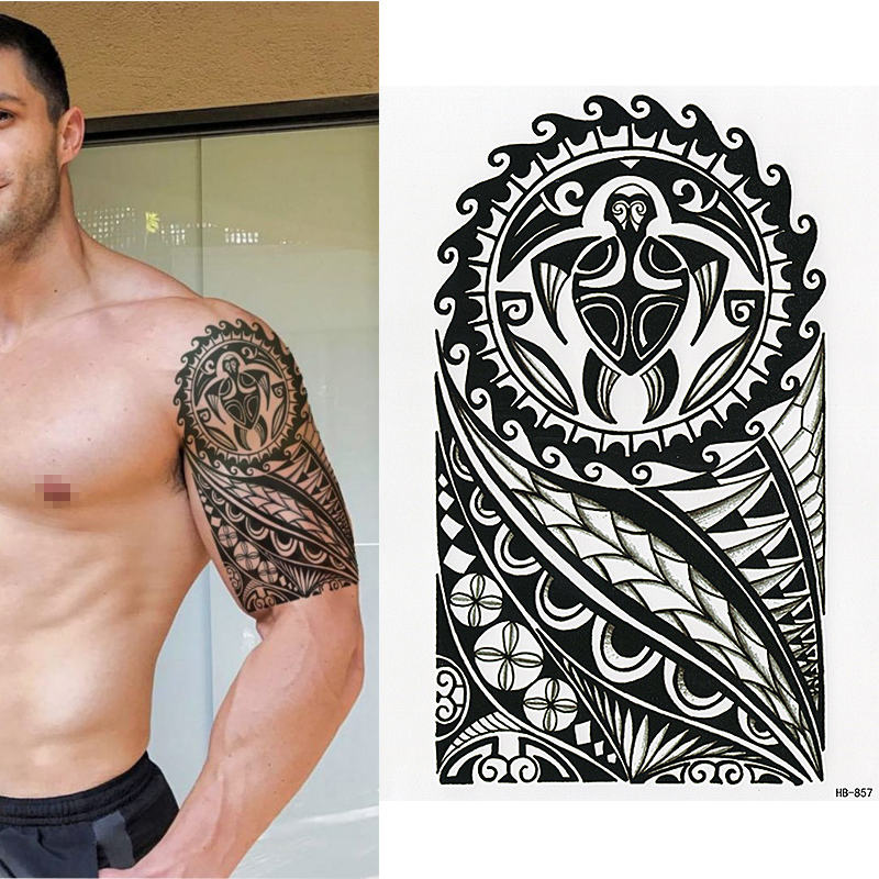 Maori Tribal Tattoo Designs Chest: POLYNESIAN TEMPORARY TATTOO, TURTLE, TRIBAL, MENS, WOMENS