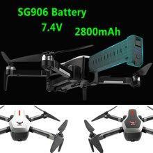 Sg906 rc quadcopter 드론 배터리 7.4 v 2800 mah 대용량 예비 배터리 rc 헬리콥터 배터리 원격 제어 장난감 액세서리