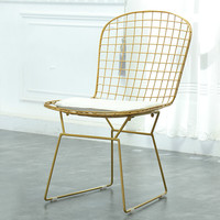 Metal Wire Mesh Chair Hollow Negotiation Chair Backrest Chair Creative Simple Iron Dining Chair