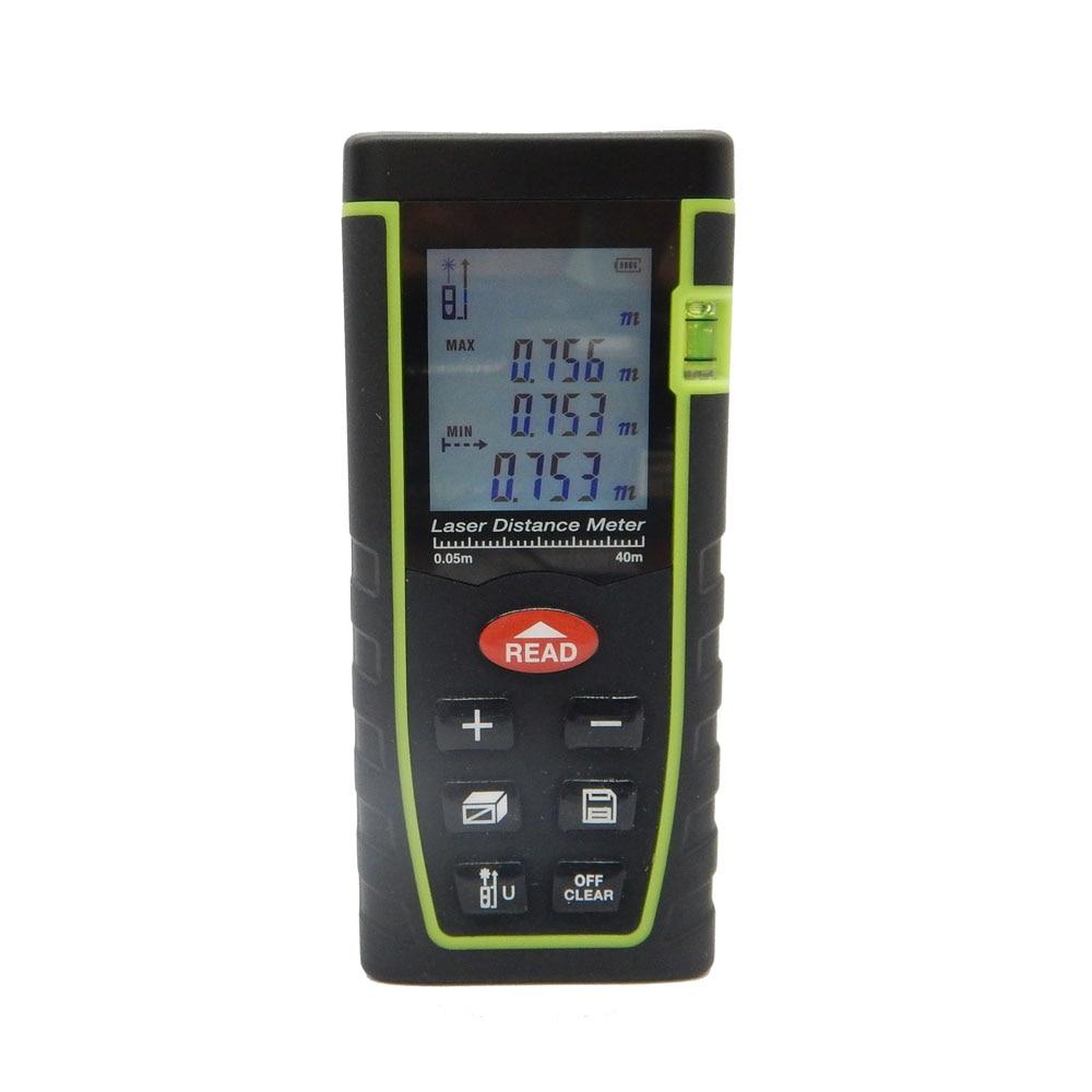 Digital Laser Distance Meter Measure Diastimeter Rangefinders Area/volume/Angle Tester tool T series 40M-60M-80M