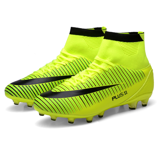High Ankle Men Football Shoes Newest Long Spikes Training Football Boots Hard-wearing Soccer Shoes High Top Soccer Cleats