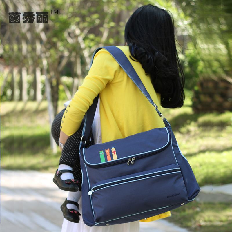 insular casual solid waterproof nylon maternity mummy diaper bag baby nappy care stroller bag mother