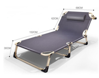 Portable Folding Four foot bed deck chair Siesta Chaise Lounger