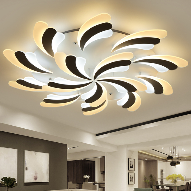 Ultra Thin Flower Led Ceiling Light Modern Living Room Ceiling Lamps  Creative Bedroom Lampara Home Indoor