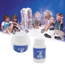 Fake Snow Artificial Fluffy Powder Instant Snow Cloud Slime Party Supplies 80g LE66(China)
