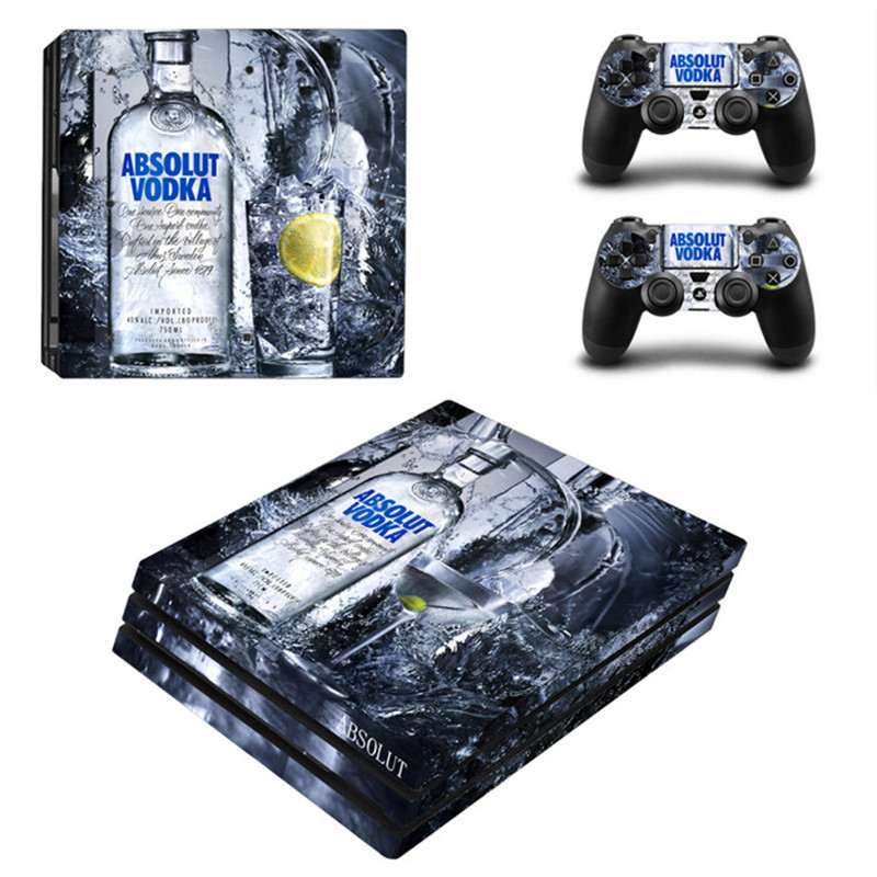 For Sony PS4 Pro Console Jack Daniels Vinyl Decal Skin Sticker+For Sony Playstation 4 Pro Controller Skin Cover Game Accessories