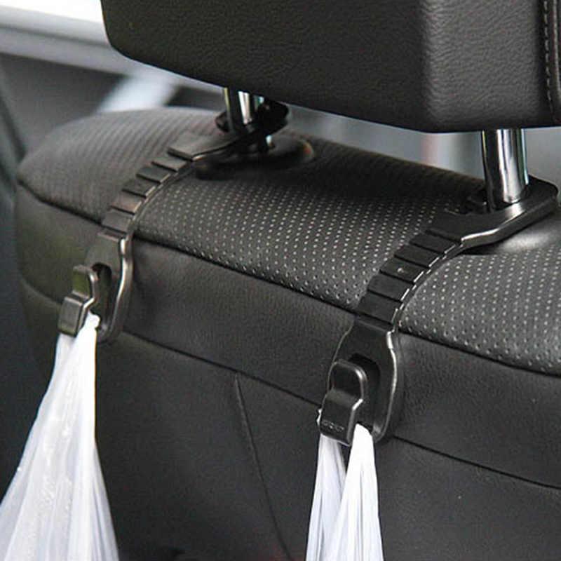 2 PCS متعددة الوظائف سيارة مقعد هوك السيارات المخده شماعات حقيبة حامل كليب ل سيارة حقيبة محفظة القماش البقالة تخزين السيارات السحابة