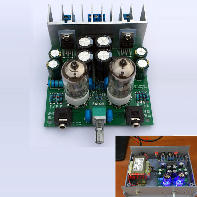 Hifi 6j1 Điện Tử Ống Preamplifier Ban lm1875t Điện Headphone Amplifier Mật Máy Preamp Amp dụng cụ DIY Module Phần 30 Wát