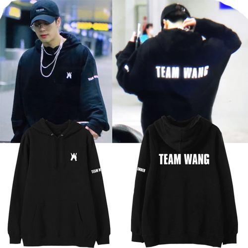 GOT7 Combination Wang Jiaer Team Wang With The Surrounding Men And Women Students Loose Hooded Jacket
