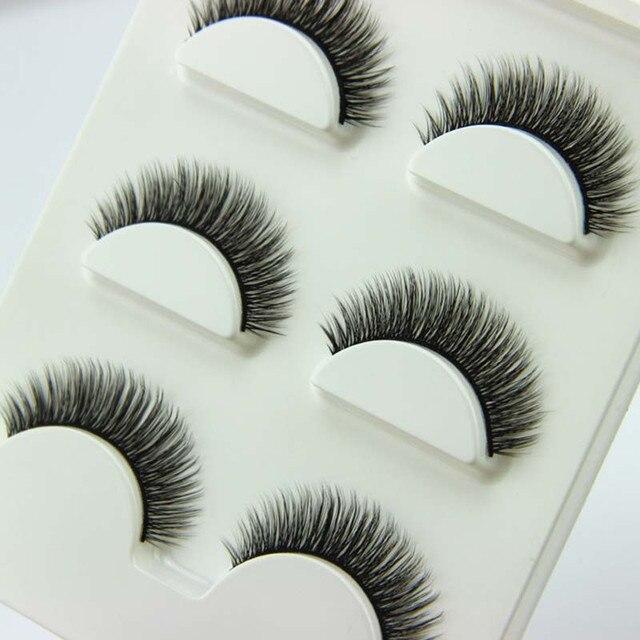 3 Pairs/1 set 3D Cross Thick False Eye Lashes Extension Makeup Super Natural Long Fake Eyelashes New
