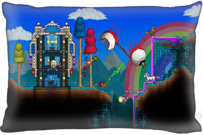 2016 New Classic game terraria Pillow Case 16x24 Inch Comfortable the best gift for your ...