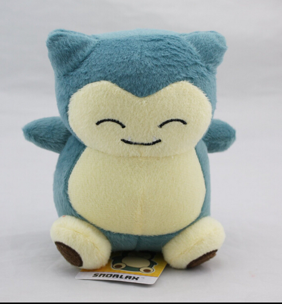 2016 1pcs 6 15cm Pikachu Plush Toy Snorlax Plush Anime New Rare Soft Stuffed Animal action
