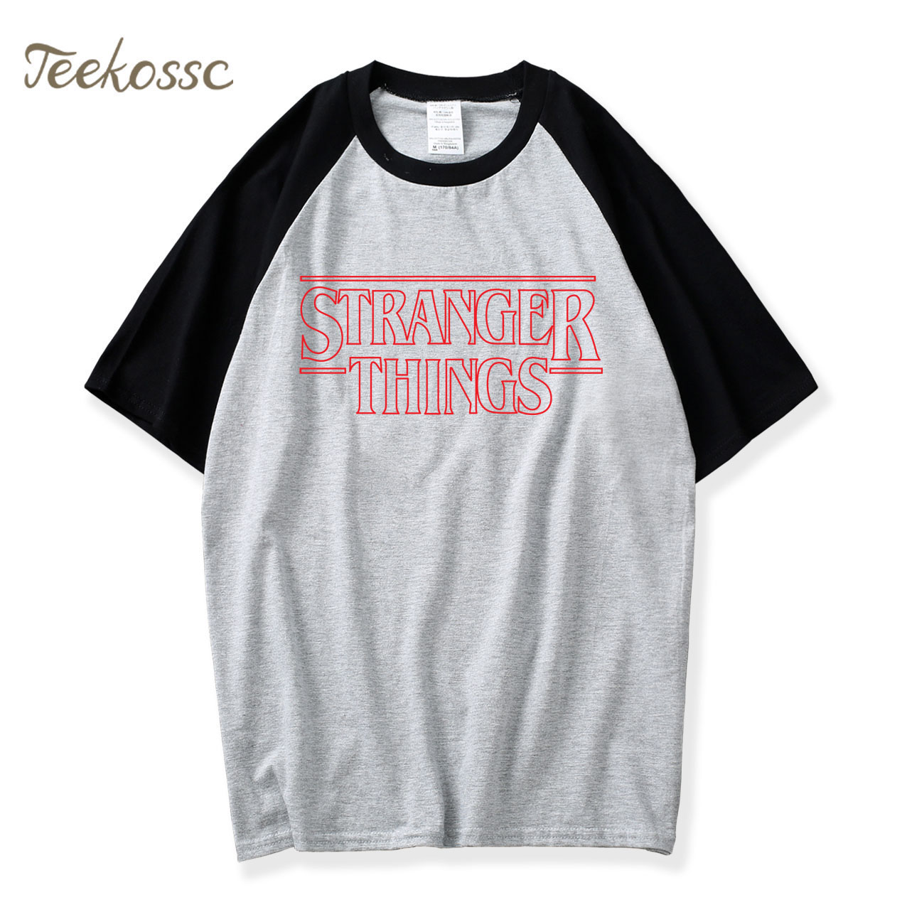 2018 New Fashion Summer TV Show Short Sleeve Black Gray T Shirt Raglan Tshirts Men Casual Camiseta Loose Tops Tee Cotton T-Shirt