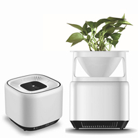 Fresh Air Purifier Flower Pot Plant Negative Ion Generator Air Purifier for Home Office HY99 FE28