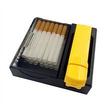Manual Single Tube Filling Machine Protable Weed Tobacco Cigarette Making Rolling Machine with Cigarettes Case for Smoking