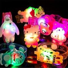 Излучения пользу вспышка светящиеся светодиодная детский рождения душ день красочные животных