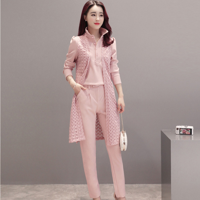2017 nuevas mujeres casual Oficina Trajes trabajo formal Sets uniforme  estilos elegante Pantalones de traje 3 016cf3711686