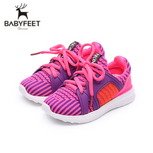 Babyfeet Hot Sale Baby Sport Casual Fabric Soft Rubber Bottom High Quality Shoes For Children Boys And Girls Do Sports