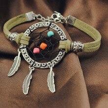 MEMOSTO Dreamcather Hand-made beads stone dream catcher bracelet retro jewelry girls student women gifts