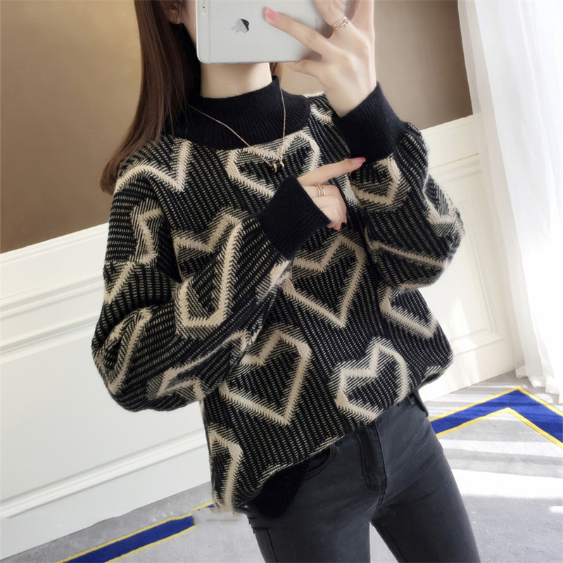 Winter Women Turtleneck Sweater Pullover 2018 New Bottoming Sweater Fashion Warm Women Pullover Winter Sweater Coltrui Dames 628