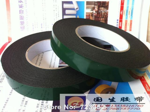 Very best PE wall hook special foam double sided adhesive tape green film  NF31