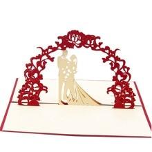 3D Laser cut Paper Wedding Invitation Greeting Pop Up Kirigami Card Custom Postcards Gifts