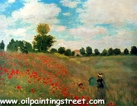 100% handmade Oil Painting Reproduction on linen canvas with Museum quality,Field of Poppies,Argenteuil by Claude Monet