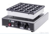 Frete grátis 110 v 220 v elétrica 25 buracos em forma de coração mini máquina panquecas panqueca ferro Máquina de Waffle     -