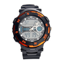 Por igual AK1386 50 m Impermeable Para Hombre de Hora Dual LED Digital Deportivo reloj de Cuarzo Reloj de pulsera con Fecha/Alarma/Cronómetro