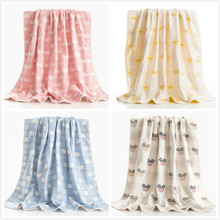 100% Cotton Gauze Bath Towel Baby Wrapped Newborns Children Summer/Quilt Plaids Blankets Hand Towels Kid Air Conditioner Covers
