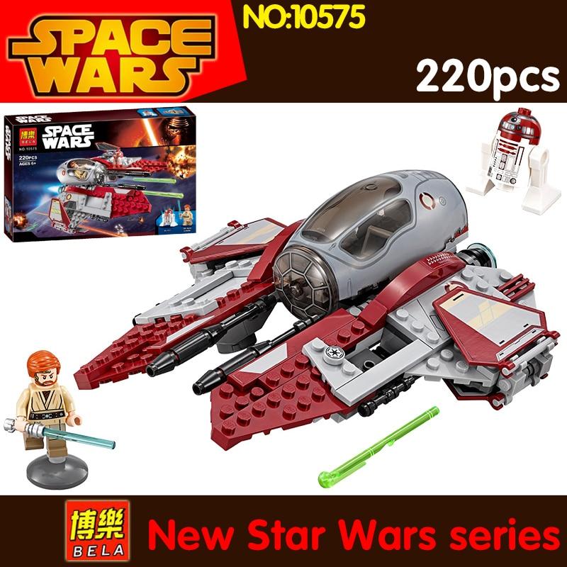2017 220pcs Star Wars Obi-Wan's Jedi Interceptor 75135 compatible lepin 05020 building models blocks toys for Children dark journey star wars the new jedi order