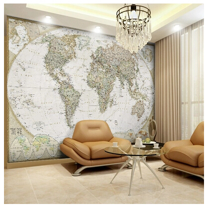 seamless world map wallpaper large mural wallpaper the. Black Bedroom Furniture Sets. Home Design Ideas