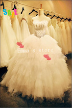 MORI-Summer Real Pictures Free Shipping Elegant High Quality Hot 2013 A-Line Strapless Court Beaded Fur Wedding Dress Go