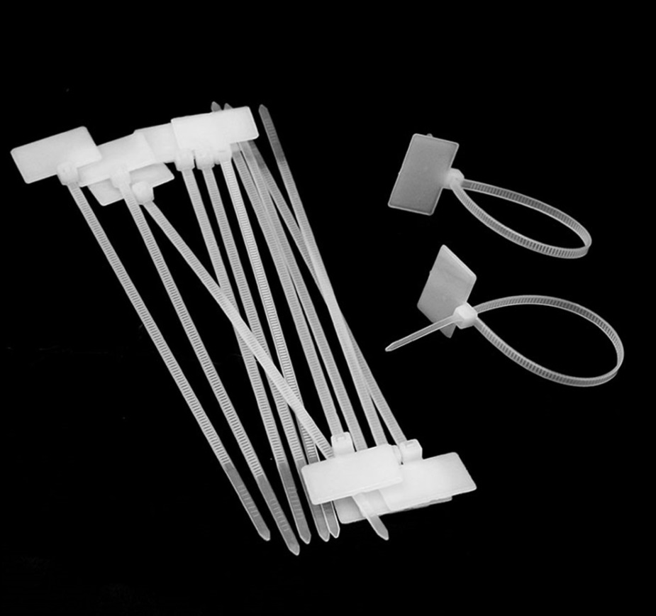 """100 PCS Pack 8/"""" inch white Network Cable Cord Wire Tie Strap Zip Nylon Good"""