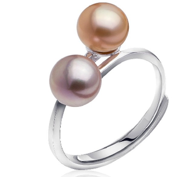 ADJUSTABLE Real Freshwater Pearl Ring 8-9mm Big Size Jewellery Fashion Finger Ring Hot Promotion!!!