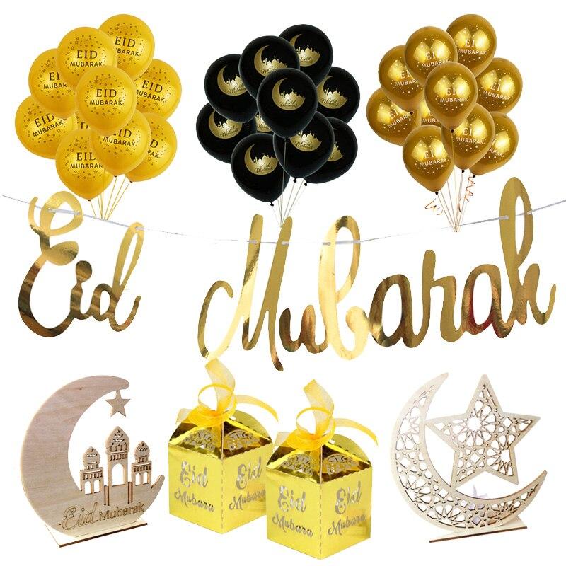 Рамадан украшения ротанга венок-гирлянда со светодиодной ленты ИД Мубарак Декор Рамадан и украшения для дома