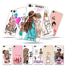 Silicone Case For BQ 5059 Cases Strike Power Mobile BQS 5.0 Bumper Cover Bags Black Brown Hair Baby Mom Girl Queen