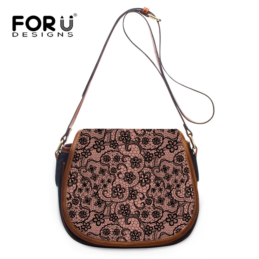 FORUDESIGNS Women Mini Messenger Bags Sexy Lace Printing Ladies Crossbody Bag Casual Female Brands Sling Shoulder Bags for Girls niugul 1200w smoke machine fog machine for stage show party wedding dj equipments 1200w fogger maker with free