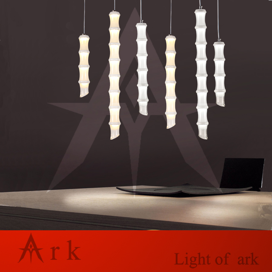 Nordic creative restaurant bar bedroom art long bamboo cylindrical single head pipe led pendant lights
