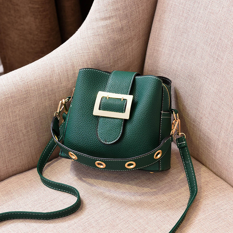 2018 New Women Handbag PU Leather Shoulder Bags Fashion Female Tote Bag Rivet Crossbody Bags For Girls Bolsas Green Red Yellow