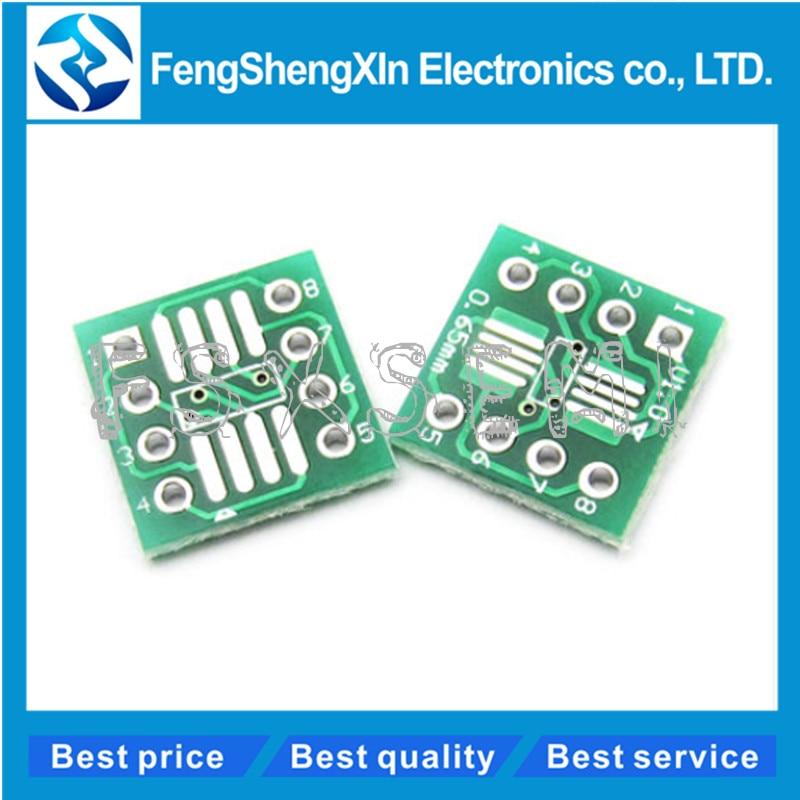 20pcs/lot SOP8 SSOP8 TSSOP8 To DIP8 Interposer Module PCB Board Adapter Plate 0.65MM