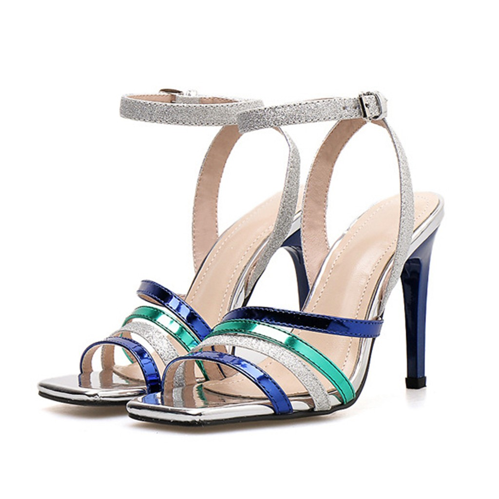 Sexy Multicolor Thin High Heels party  Shoes Women Elegant Square Toe Summer Leisure Sandals Ladies pumps Sandal blocked heelsSexy Multicolor Thin High Heels party  Shoes Women Elegant Square Toe Summer Leisure Sandals Ladies pumps Sandal blocked heels