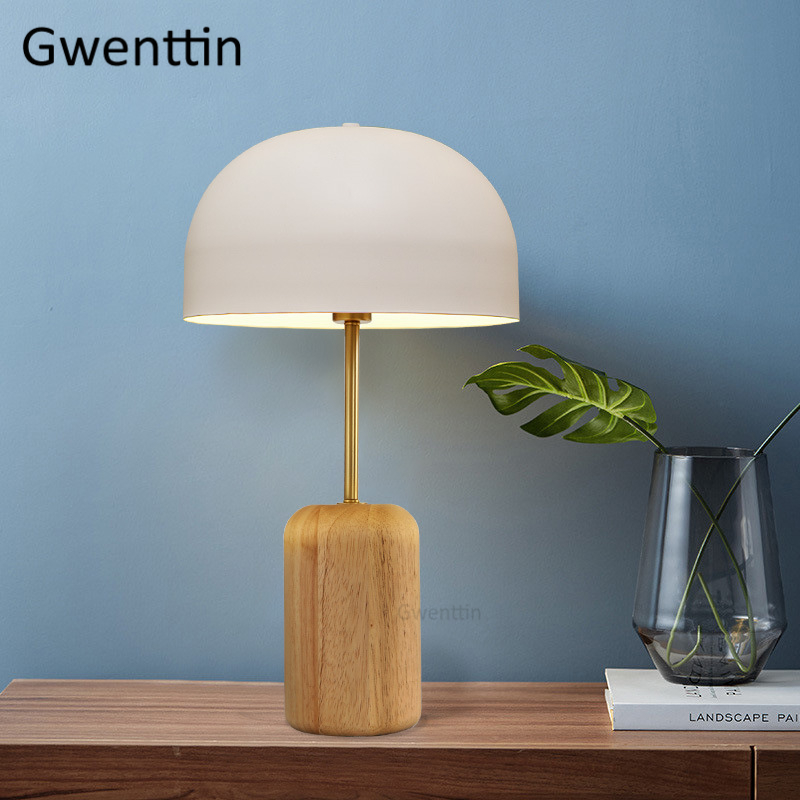 Nordic Wood Table Lamps Modern Stand Desk Lights for Study Reading Bedroom Bedside Lamps Led Light Fixtures Luminaire Home Decor