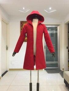 Image 2 - Anime Full Metal Alchemist Cosplay Edward Elric Costume FullMetal Alchemist hooded coat Custom Made