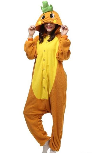 6db06f5b2dd0 Carrot Cartoon Cosplay Party Costumes Comfy Leisure Animal Onesies Pajamas  Jumpsuit Teens Adults Homewear Cheap Sale