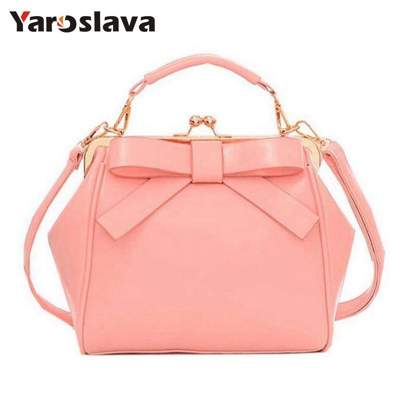 2018 Spring Hot New Fashion women Handbag fashion brand bag bow Shoulder Bag vintage Messenger Bags