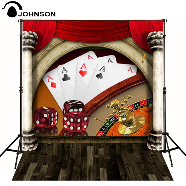 Poker Dice Casino Plank Curtain Backgrounds for sale High-quality Vinyl cloth Computer printed party backdrop new year santa workshop backgrounds for sale vinyl cloth high quality computer printed christmas backdrops