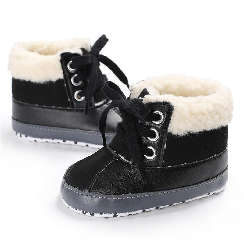 ec0e81ce6 Fashion Newborn Toddler Baby Boys Shoe Winter Snow Boots Soft Sole ...